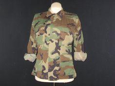 Military jacket // Grunge jacket // camo jacket // size military jacket