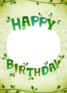 생일편지지 & 메모지 모음 ♡ : 네이버 블로그 Happy Birthday Frame, Birthday Frames, Art Birthday, Happy Birthday Cards, Borders And Frames, Diy Bow, Cool Pictures, Banner, Typography