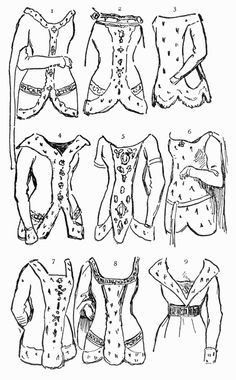 Guide to William Shakespeare: 10th - 15th Century Female Costume Prototypes