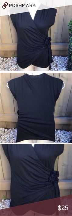 White House Black Market rosette blouse size M Size M White House Black Market rosette  blouse: BIN 8 White House Black Market Tops Blouses