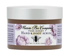 Pure Honey Hand & Foot Scrub  With Olive Oil, Salt, and Oatmeal