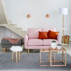 Diano Pure Wool Knit Effect Rug LA REDOUTE INTERIEURS This pure wool rug is super soft on your feet ! Decor, Furniture, Room, Front Room, Love Seat, House Styles, Pouf, Home Decor, Little Houses