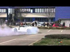 Dubai Police Lamborghini, May 2013, Street Race Drifting Public Car Show +http://brml.co/1zbWIy3
