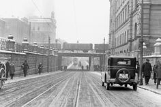 Lubicz street in winter time. Cracow, 1933