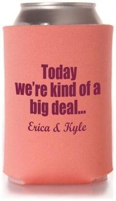 Best Selling Wedding Can Cooler Templates - Inexpensive Wedding Favors! #wedding #koozies #favors by leila