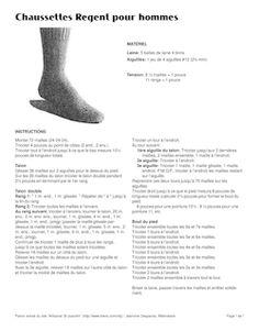 Bas pour enfant sur 4 aiguilles Regent, Socks, Crochet, Knitting, Patterns, Beginner Knitting Patterns, How To Knit Socks, Tricot, Breien