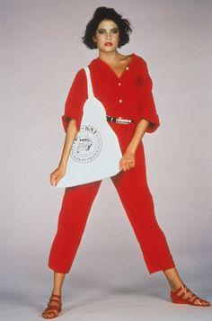 1983 : la combinaison Naf-Naf . La mienne était jaune pale. Après une ballade en moto, un orage d'été, elle est devenue transparente...