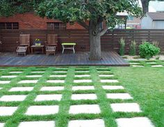contemporary landscape by Jocelyn H. Chilvers I love decks cut around trees.