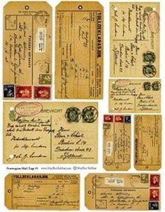 free junk journal vintage printables by guadalupe Vintage Tags, Images Vintage, Vintage Diy, Vintage Labels, Vintage Ephemera, Vintage Paper, Vintage Postcards, Printable Labels, Printable Paper