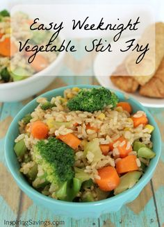 Don't have a lot of time for dinner, but want something healthy and not fast food. This vegetable stir fry uses many items you already have on hand.