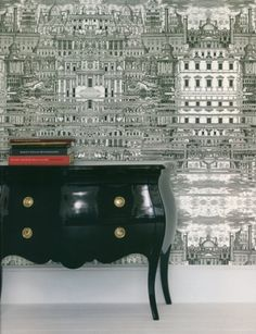 Black painted furniture - need this for between my windows  - love the b lack!