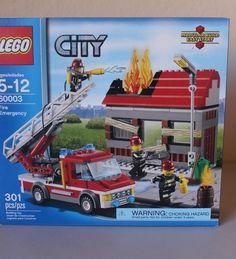 Lego City Fire Emergency (60003) 301 Pieces Fireman - Brand NEW  #LEGO