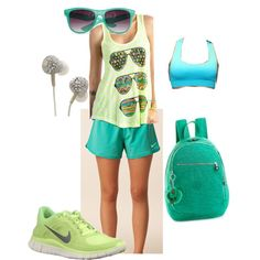 casual workout outfit for a daily run in the sun