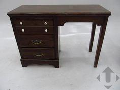 Dark Wooden 3 Drawer Desk