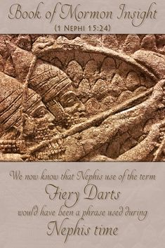 "When Nephi wrote ""fiery darts"", some assumed that Joseph Smith copied the term from the New Testament. We now know from the Hebrew text of the Old Testament, and through archaeology, that such a term would have been used in Nephi's time. Learn more at http://www.knowhy.bookofmormoncentral.org/content/what-are-the-%E2%80%9Cfiery-darts-of-the-adversary%E2%80%9D-spoken-of-by-nephi  #fiery #bookofmormon #lds #mormon #knowhy #arrows"