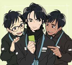 Yuri!!! On Ice <3 Yuri On Ice Comic, Yuuri Katsuki, ユーリ!!! On Ice, Dear Evan Hansen, Manga Boy, Otaku Anime, Cute Gay, Noragami, In This World