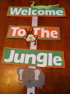 Reptile, Jungle, Safari Birthday Party Welcome Sign by NottJustBows on Etsy https://www.etsy.com/listing/190053201/reptile-jungle-safari-birthday-party