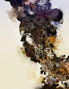 Precognition - Digital Illustration by NastPlas Portrait Illustration, Digital Illustration, Ap Studio Art, Surreal Art, Types Of Art, Fractal Art, Interactive Design, Urban Art, Art Studios