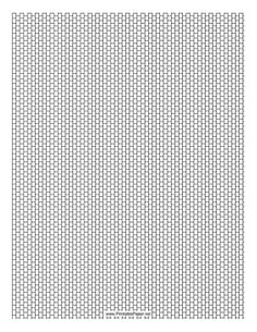 This Cylinder Bead Peyote Pattern beadwork layout graph paper features cylindrical beads in a single-row peyote pattern. Free to download and print