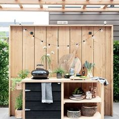 Planting In Your Garden - Medan, Bbq Area, Summer Kitchen, Outdoor Living, Outdoor Decor, Kids Corner, Back Gardens, Garden Furniture, Bar