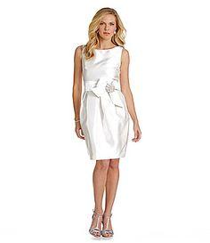 Eliza J Sleeveless Satin Tulip Dress #Dillards