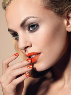 La Biosthetique makeup and hair products. I get the most compliments from people when I wear this nail and lip color from Summer Faces Cosmetics, Makeup Cosmetics, Interesting Faces, Makeup Art, Lip Colors, New Product, Septum Ring, Compliments, Hair Care