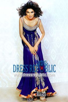 Royal Blue Rolex, Product code: DR9628, by www.dressrepublic.com - Keywords: Model Formal Dresses 2012 - 2013, Elan Pakistani Designer, Elan Couture Bridals Pakistan