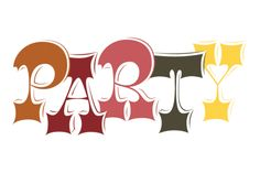Party lettering by Martina Flor.