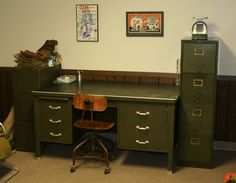 The Olive Drab Metal Furniture Is Nice To Have In Bob S Es
