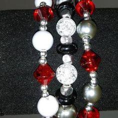 Ohio State Bracelets w/ charm   Etsy Football Bracelet, Handmade Items, Handmade Gifts, Ornament Wreath, Stretch Bracelets, Hippie Boho, Ohio, Charmed, Trending Outfits