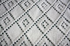 #TheIvy KnitsByDee: Diamond Lace Panel Baby Blanket