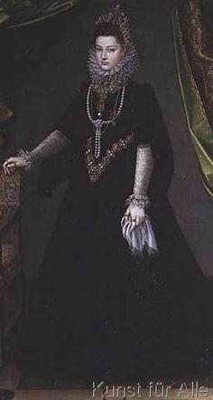Sofonisba Anguisciola - Infanta Isabella Clara Eugenia (1566-1633), daughter of King Philip II of Spain (1556-98) and Isabella of Valois (1545-68), 1599