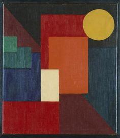 1924 Compositie met diagonaal - Wobbe Alkema