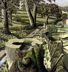 """East of Eden Valley"" by Simon Palmer (ink, watercolour and gouache)"