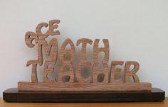 Ace Math Teacher Desk Sign Cut On Scroll Saw by DukesScrollSaw, $7.00