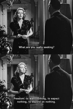 -what are you really seeking? -want nothing, expect nothing, depend on nothing