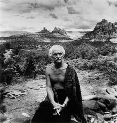 MAX ERNST in Arizona. German painter, printmaker and sculptor, naturalized American in 1948 and French i 1958. He was a major contributor to theory and practice of Surrealism. His work challenged and disrupted what he considered to be repressive aspects of European culture, in particular Christian doctrine, conventional morality and the aesthetic codes of Western academic art. Until the mid-20s he was little known outside a small circle of artists and writers in Cologne and Paris,