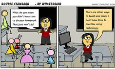 double standard - don't be this educator!