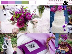 Purple and Blue Wedding Inspiration Board