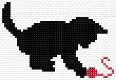 Kitten Cross Stitch Pillow, Cross Stitch Bird, Cross Stitch Animals, Cross Stitch Charts, Cross Stitch Designs, Cross Stitching, Cross Stitch Patterns, Blackwork Embroidery, Embroidery Stitches