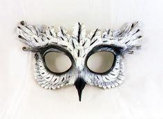 White Owl Leather Mask. $90.00, via Etsy.
