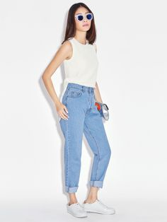 f5026e47f1ac Lorraine Mom Jeans - Pomelo Fashion