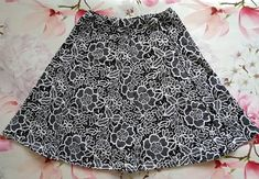 Items similar to Black and White Women Skirt Size Jersey cotton fabric, Floral print, Knee Length, Panelled skirt pattern, elegant skrit for every day on Etsy Etsy Handmade, Handmade Gifts, White Women, Cotton Fabric, Give It To Me, Floral Prints, Etsy Shop, Gift Ideas, Black And White