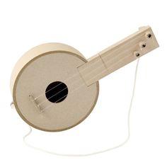 じぶんでつくる楽器・紙の三弦ギター