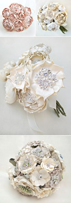 Yes please! Silk Bridal Bouquets from Emici Bridal