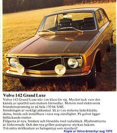 Volvo 142 GL 1971 Volvo Amazon, Volvo Cars, Print Ads, Sweden, Honda, Audi, Classic Cars, Automobile, Retro