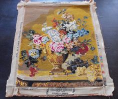 Vintage French Needlepoint...make a fabulous pillow....