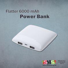 Flatter power bank #Plastic #USB #powerbank #6000mAh #battery #UAE #UnitedArabEmirates #AbuDhabi #Dubai #Sharjah #Ajman #OrderNow : https://goo.gl/r2KvDH