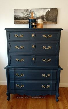 Custom dark blue set | Restyled Renewed | Chalk Paint | Chattanooga
