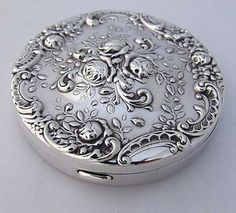 Portacipria in argento degli anni '50